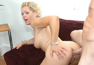 blonde mom anal