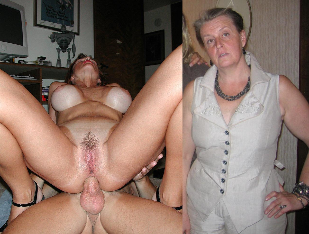Son in law is fucking his beautiful wife's mom and her mature pussy is tight for him