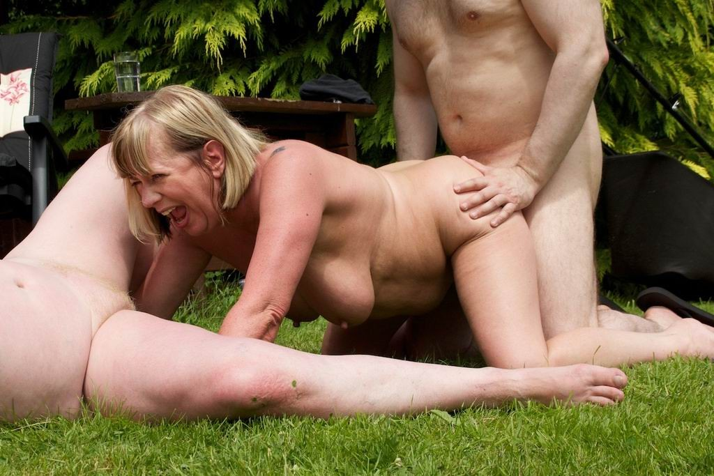 Throatfucked Granny Rides Cock Outdoors On Gotporn
