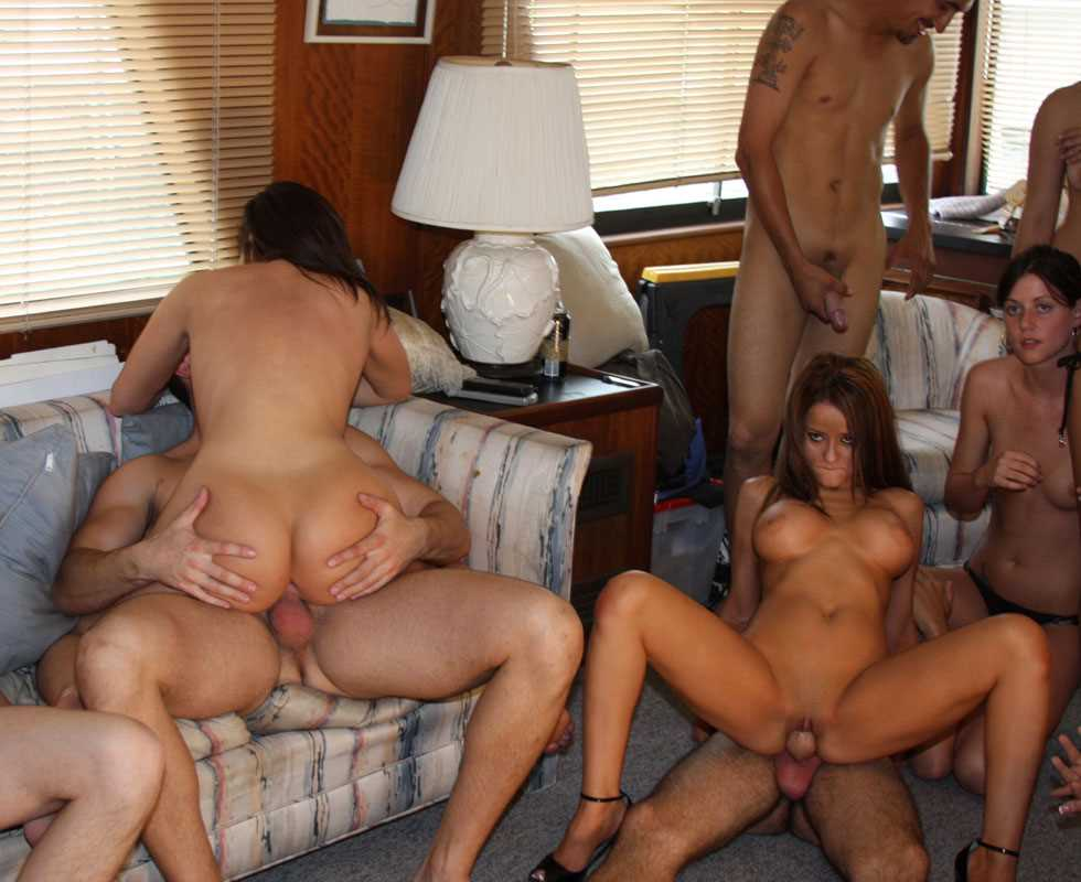 Naked moms orgy