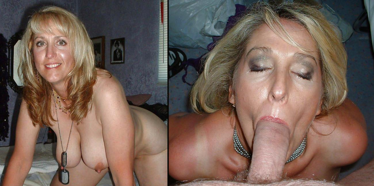 Before/After Amateur Mature Blowjobs 3 - PornHugo