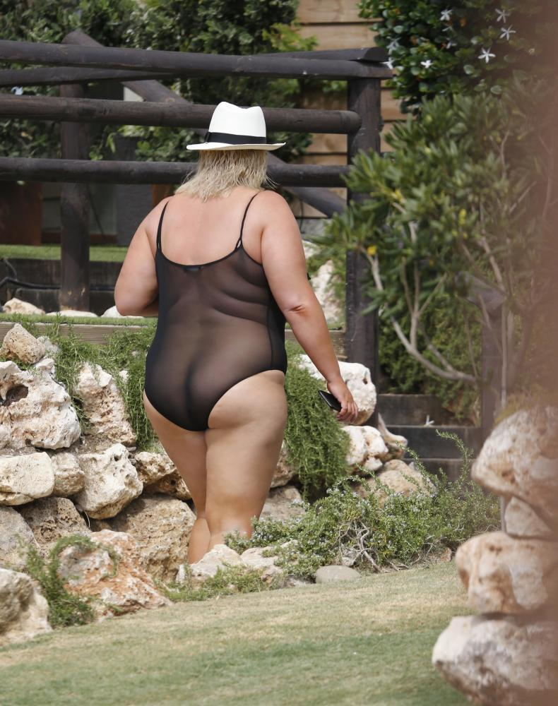 Towie's Gemma Collins wears VERY daring see-through swimsuit