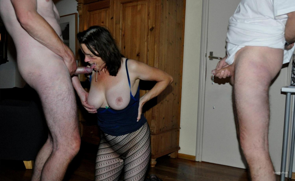My wife and me sucking strangers cocks