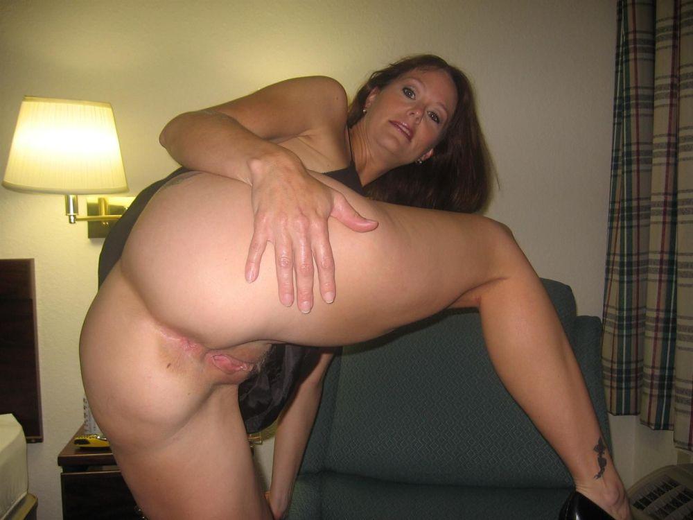 Nice and huge mature ass in transparent panties