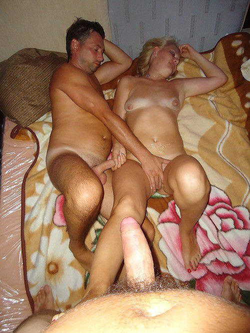 Two happy men fuck one woman in all the cracks, watch more amateur porn and mature women