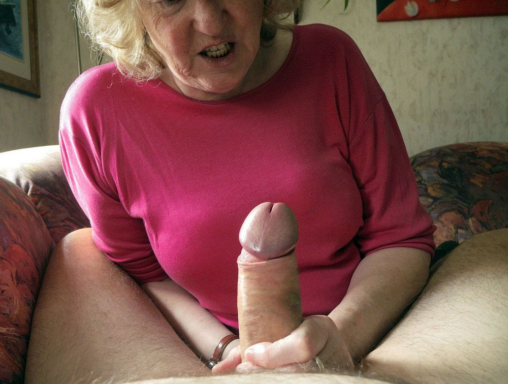 Blonde Granny Sits On Young Cock After Blowjob