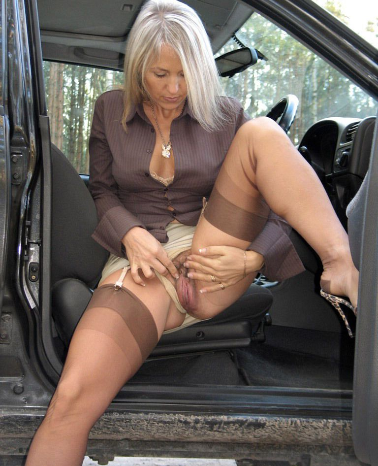 AlaNylons gallery with slutty european mom, who urinate outdoor.